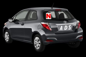 N Plate on Driving Lesson Car Driving Lessons Kinsealy